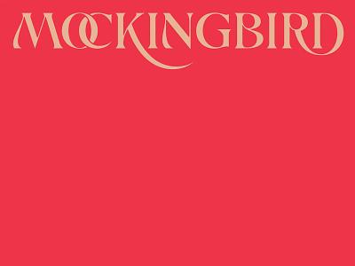 Mockingbird History logo custom lettering