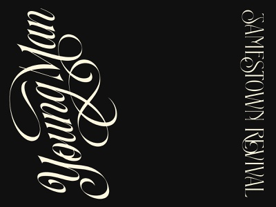 Young Man custom lettering