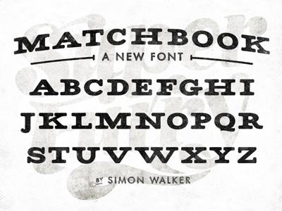 Matchbook font