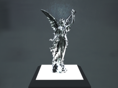 Lucy lighting sculpture cyclesrender blender3d 3d art