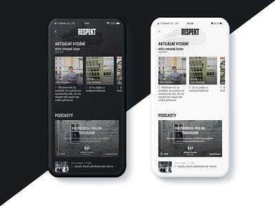 Respekt app design app uiux ux magazine respekt