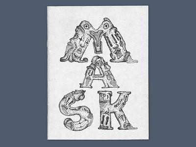 Mask fanzine dots magazine fanzine typo typography illustration design