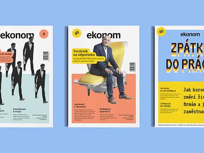 Ekonom magazine typography branding design typo grapgic design magazine cover magazine
