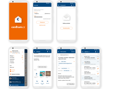 Android Centrum.cz mail app ux ui design app mail centrum centrum.cz android