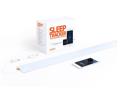 Beddit identity branding minimal clean packaging app wellness health quantified self sleep tracking sleep