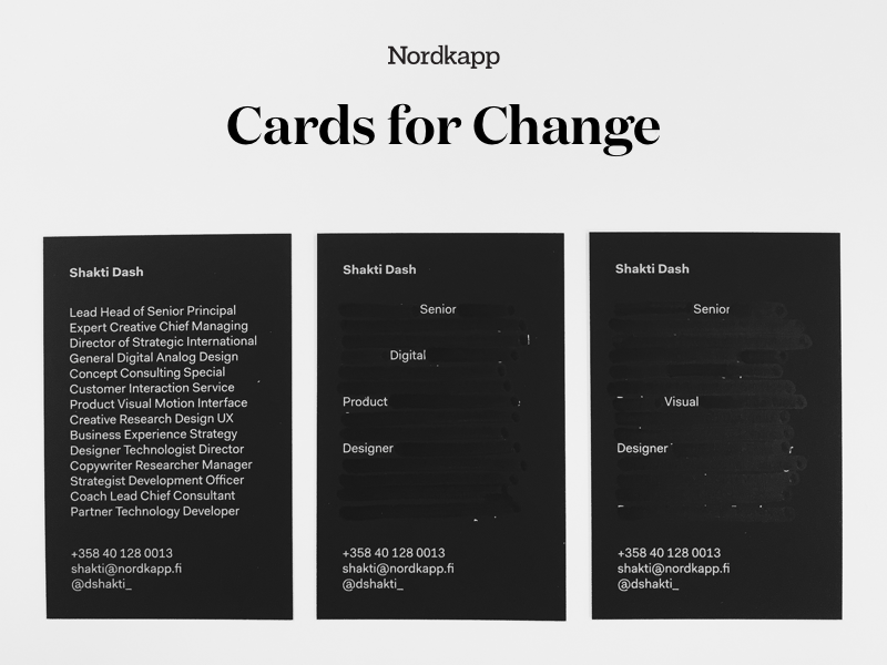 Cards For Change by Nordkapp - Dribbble