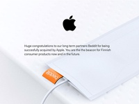 Beddit x Apple