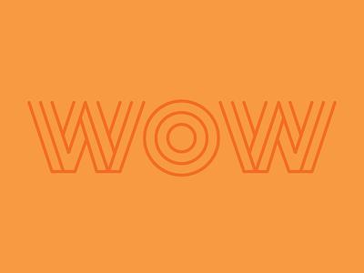 Type 01 linework vector wow typography