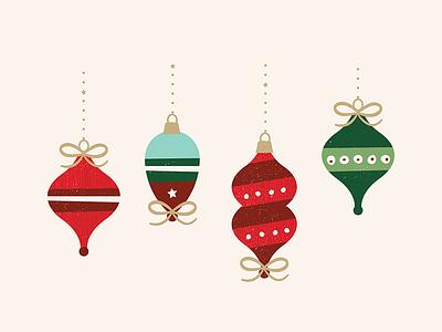 Ornaments xmas icons season illustration holiday ornaments decoration christmas