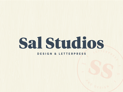 Sal Studios Brand Identity monogram letterpress branding