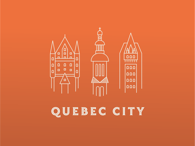 Quebec City typography branding illustration quebec city icons elisa martin vector