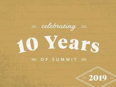 2019 Summit Branding georgia savannah dmh typography kansas city branding
