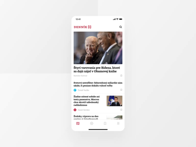 Denník N - News App ui ux app animation app design design application motion video mp4 gif news app animation animation news app article app app article news