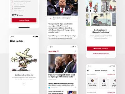 Denník N - News App ux ui app animation app design design application motion video mp4 gif news app animation animation news app article app article app news
