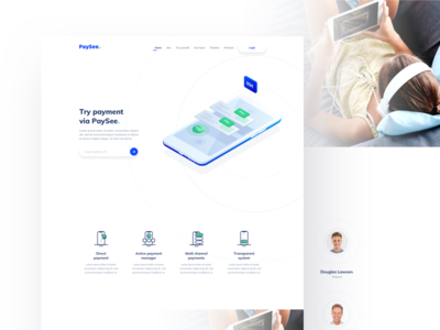 PaySee - Landing page