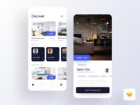 Rent app - Sketch freebie