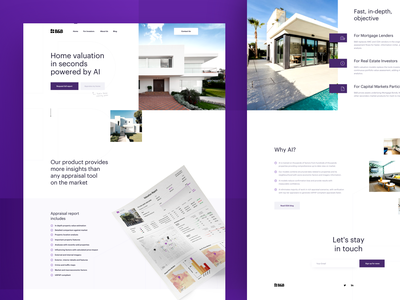 Babcock & Bonbright (CEAi) is live! flat photo ai artificial intelligence ceai purple estate real estate web simple landing page landing