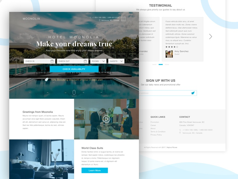 Hotel moonolia a design of hotel booking site sketch for Booking design hotel
