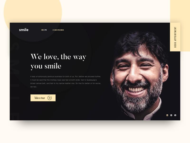 Beauty is power; a smile is its sword | Dental Website Idea design creative minimal dentist smile dental clean ux ui