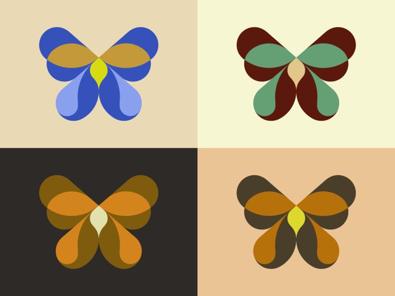 Geometric butterfly logodesigner modern minimalism design minimal clean logomark abstract geometric logo