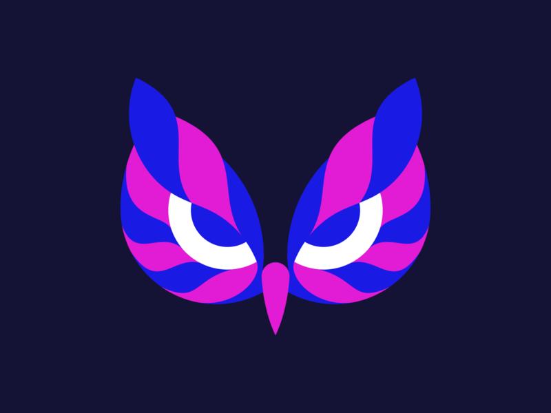 Owl mask modern logodesigner minimalism design minimal clean logomark abstract geometric logo