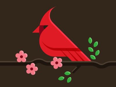Northern cardinal designer concept bird northern cardinal logodesigner modern minimalism design minimal clean logomark abstract geometric logo