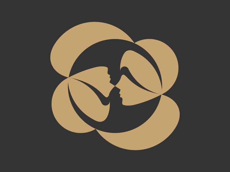 Twin sisters logodesigner modern minimalism design minimal clean logomark abstract geometric logo