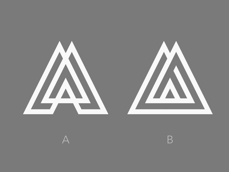 Pyramid A concepts logodesigner modern design clean minimalism minimal abstract logomark geometric logo