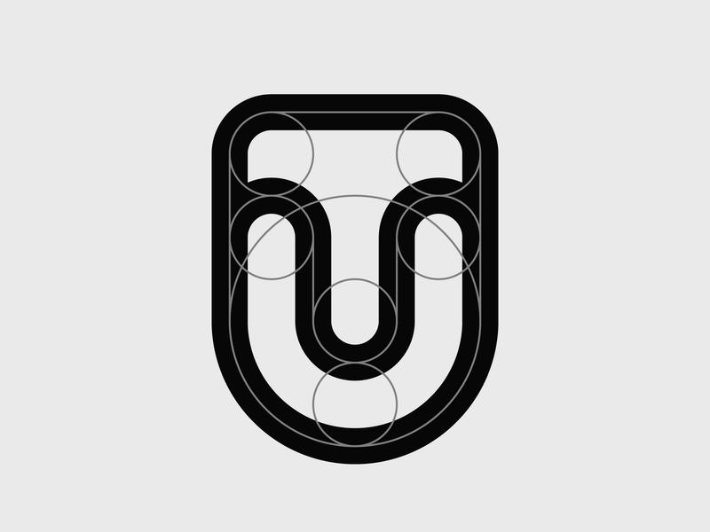 TU monogram modernism lettermark logodesigner modern minimal clean logomark abstract geometric logo