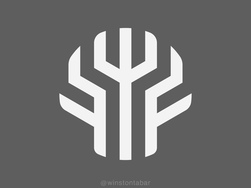 Fractal concept logodesign logodesigner minimalism minimal clean logomark abstract geometric logo