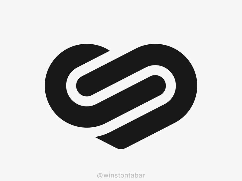 Infinite heart logodesigner modern minimalism design minimal clean logomark abstract geometric logo