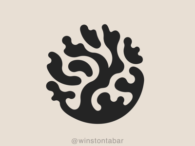 Coral logodesigner modern minimalism design minimal clean logomark abstract geometric logo