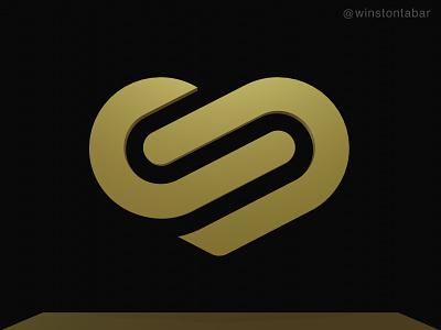 Infinite heart logodesigner modern minimalism design minimal clean logomark abstract geometric logo