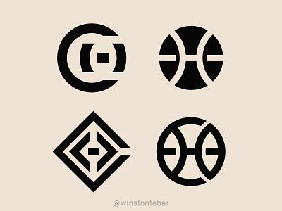 CHB logodesigner modern minimalism design minimal clean logomark abstract geometric logo