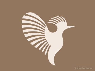 Hoopoe logodesigner modern minimalism design minimal clean logomark abstract geometric logo