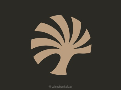 Palm Tree logodesigner modern minimalism design minimal clean logomark abstract geometric logo