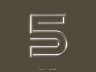 Cinco logodesigner modern minimalism design minimal clean logomark abstract geometric logo