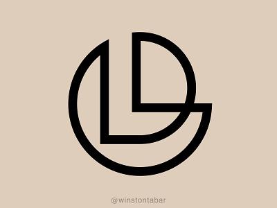 LD monogram logodesigner modern minimalism design minimal clean logomark abstract geometric logo
