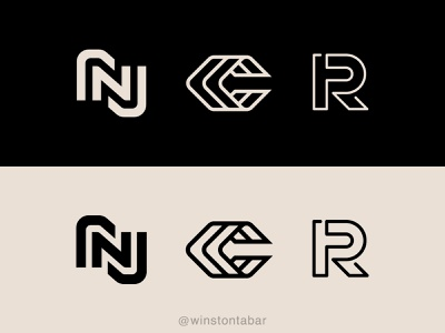 Monograms logodesigner modern minimalism design minimal clean logomark abstract geometric logo