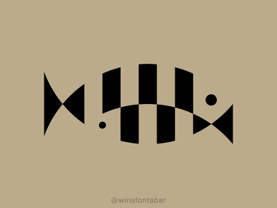 Fish Fam logodesigner modern minimalism design minimal clean logomark abstract geometric logo