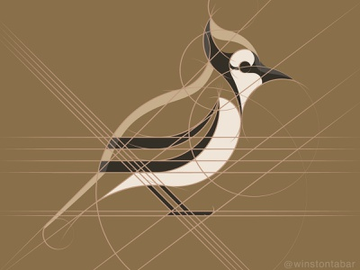 Blue Jay illustration design minimal clean logomark abstract geometric logo