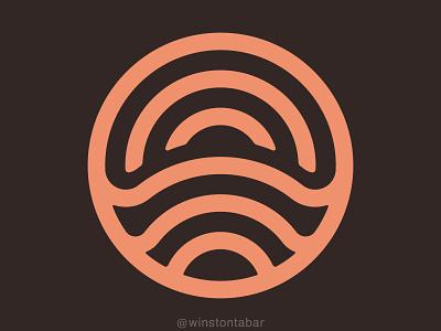 Sunrise branding illustration design minimal clean logomark abstract geometric ui logo