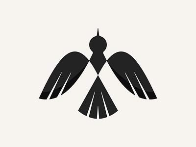 Mockingbird icon logodesign m logo design mockingbird clean geometric abstract bird