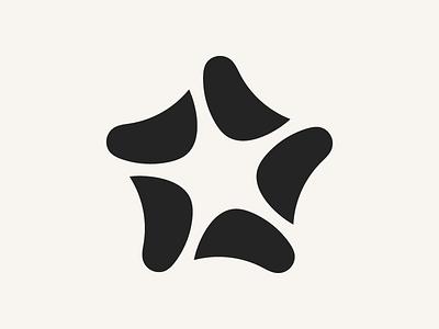Starfish minimal minimalism clean creatures sea ocean abstract geometric starfish logomark logo