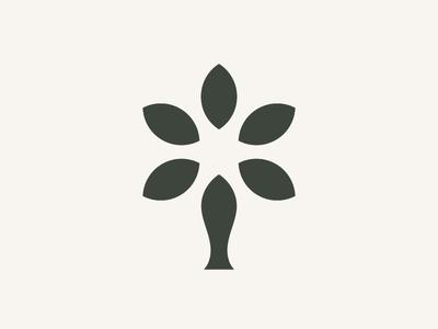 Flower Vase logo mark geometric logo abstract mark brand identity graphic design logo designs modernism minimalism clean vase flower geometric abstract