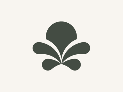 Flower modern logo illustration abstract mark minimalism clean logomark logo abstract geometric