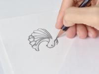 Betta fish sketch