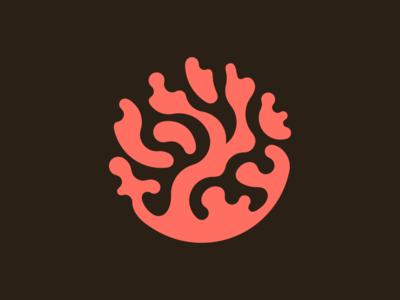 Living Coral logodesign minimalism minimal clean logomark abstract geometric logo