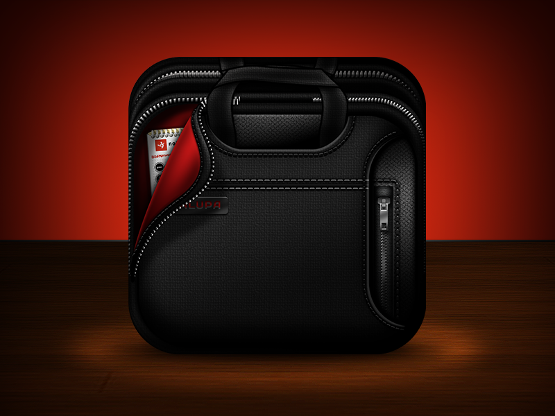 Alupacon Laptop Bag ios icon app icon laptop bag app iphone ipad sketch