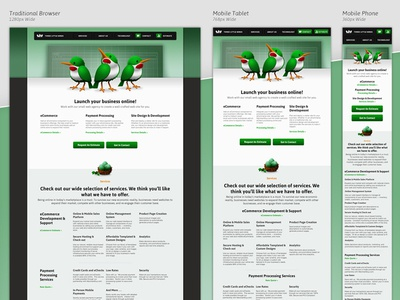 Three Little Birds Responsive Website Design